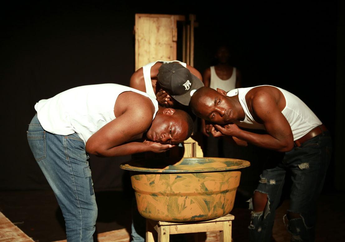 Ubuze Bam with Bongani Dyalivana, Eric Menyo and Lazola Sikhutshwa - credit Nardus Engelbrecht Cape Town Fringe 2016