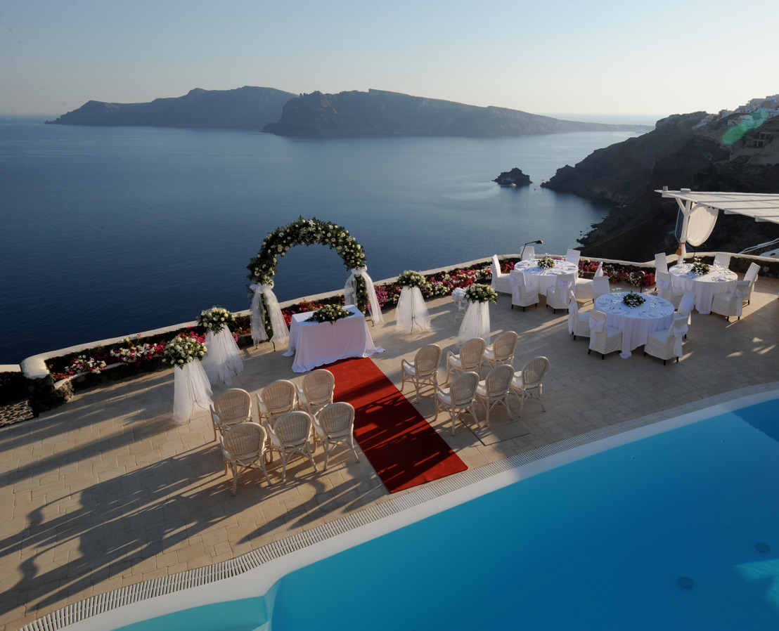 "Say ""I do"" in Santorini's Ultimate Romantic Resort"