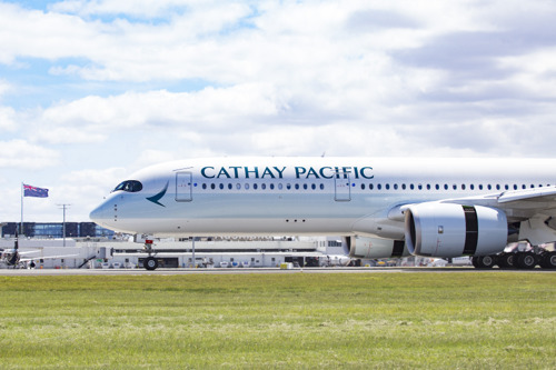 Cathay Pacific first to Auckland with the A350