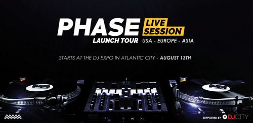 MWM announces an exclusive world tour for its latest DJ innovation Phase, starting on August 13 with the DJ Expo in Atlantic City.