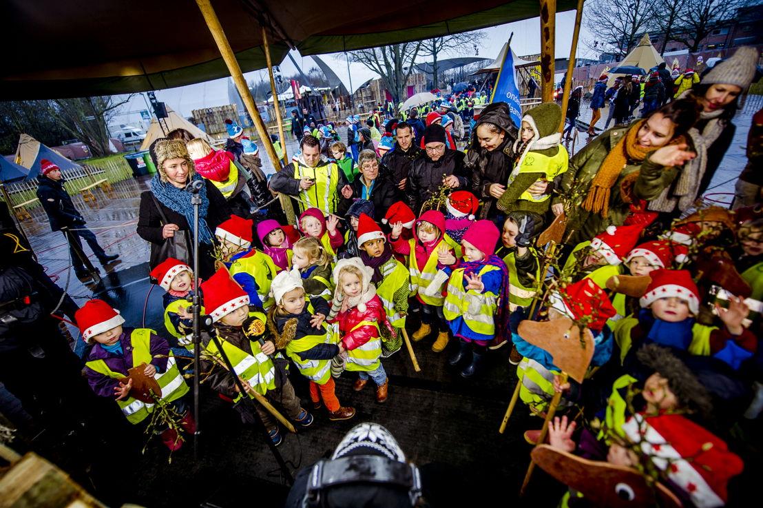 Leerlingen van Basisschool 't Kofschip uit Edegem (c) VRT - Thomas Geuens