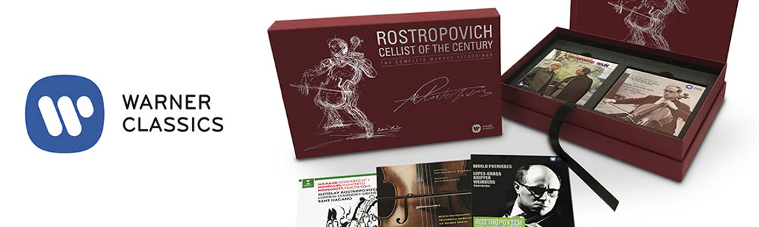 Warner Classics marks the 10th Anniversary of Mstislav Rostropovich's death and 90 years since his birth with major 2017 releases including the 43-disc box set Cellist of the Century
