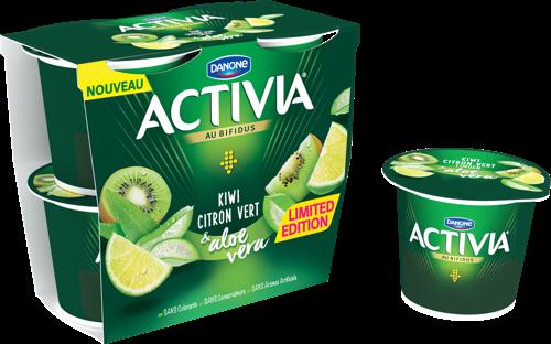 Activia lance une édition limitée : Kiwi Citron Vert & Aloe Vera