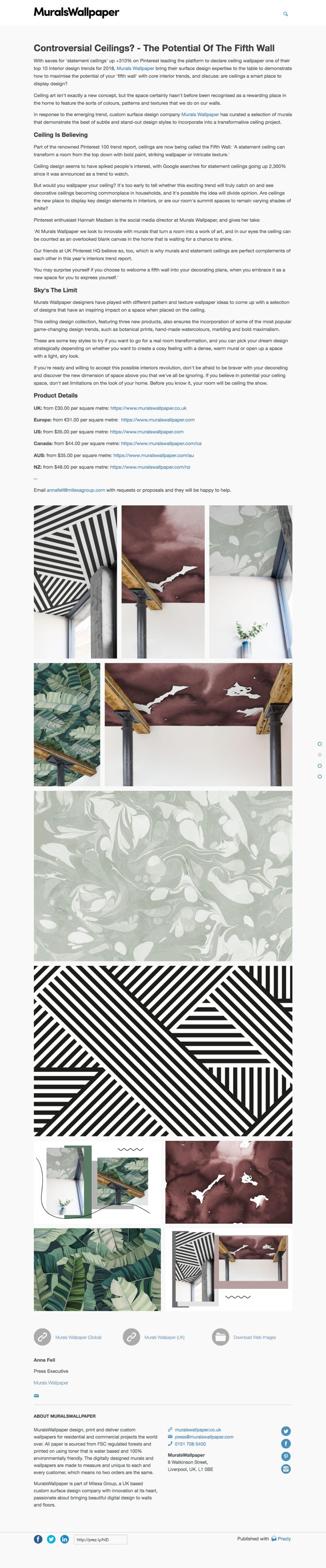 Controversial Ceilings? - Murals Wallpaper On The Potential Of The Fifth Wall