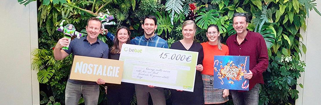 """""""Nostalgie Magic Tour"""" : Bebat vient de remettre un merveilleux chèque à « Arc-en-Ciel » !"""