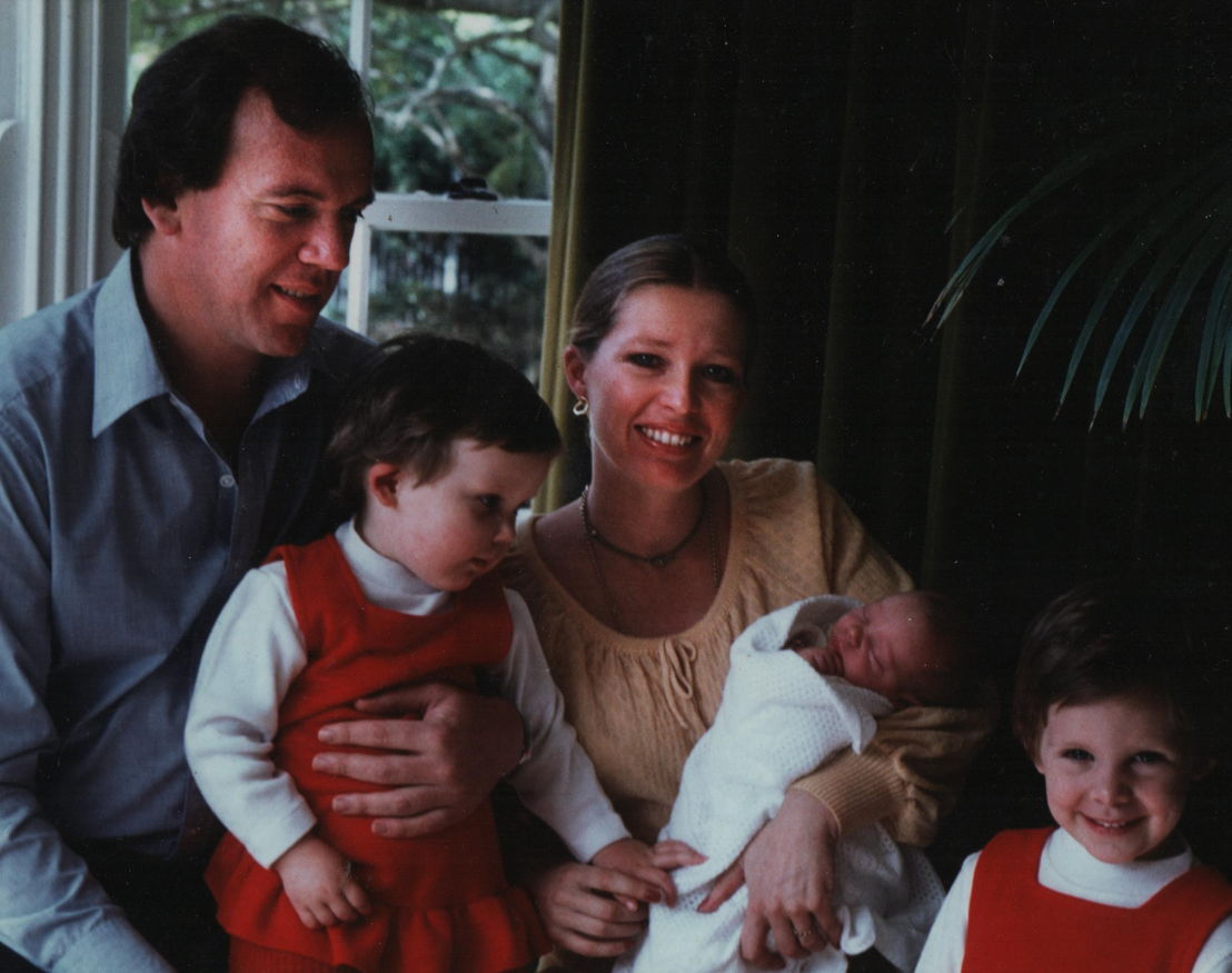 Mike Willesee and wife Carol, with their daughters Jo, Amy and Lucy.