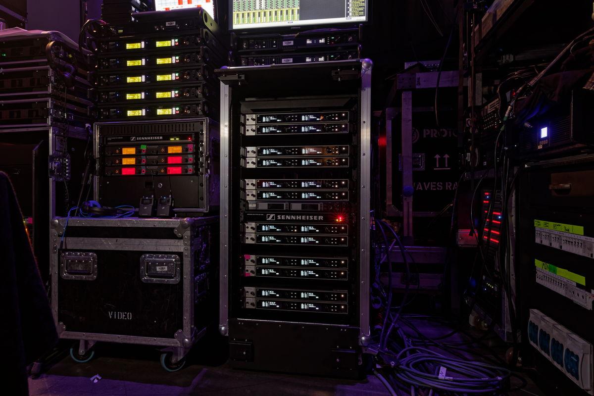 Die digitalen Sennheiser Wireless-Systeme wurden in der Verti Music Hall in den Frequenzbereichen A1-A4 und A5-A8 betrieben