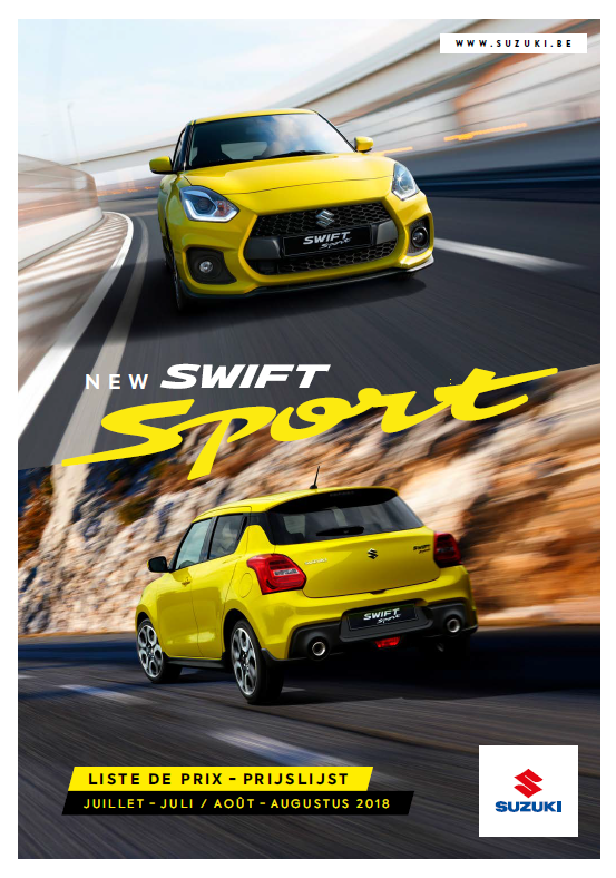 Prijslijst Suzuki augustus 2018