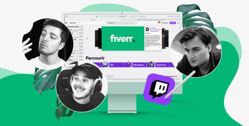 Emakina/Influx orchestre une campagne de crowd creation pour FIVERR sur Twitch et YouTube avec 3 créateurs français