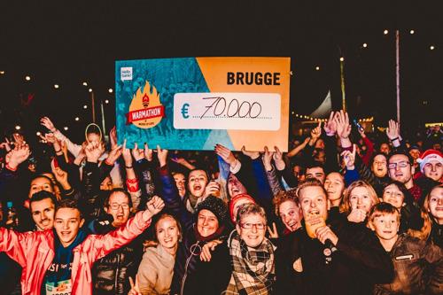 7000 mensen lopen de Warmathon in Brugge
