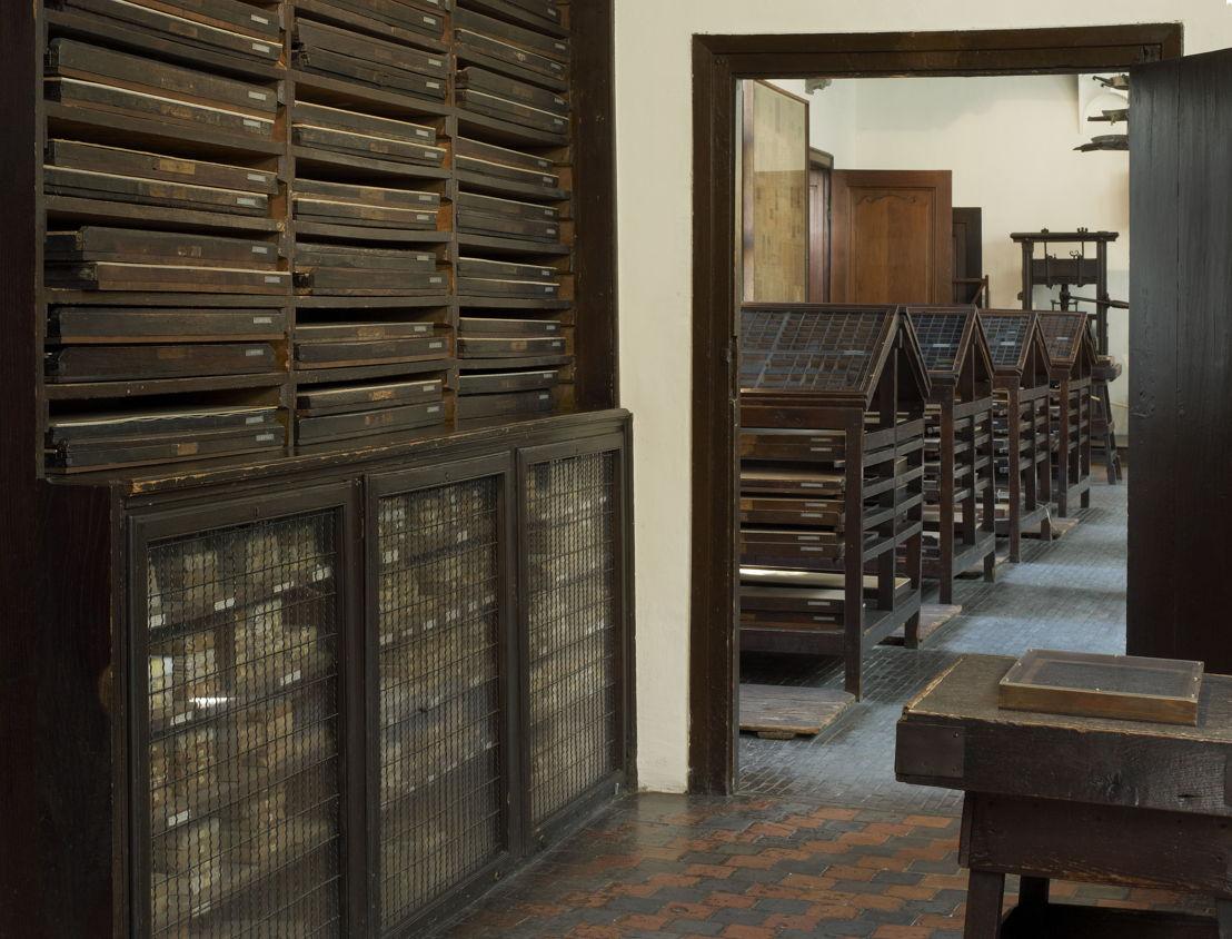 Museum Plantin-Moretus, Lettercases, photo: Joris Luyten