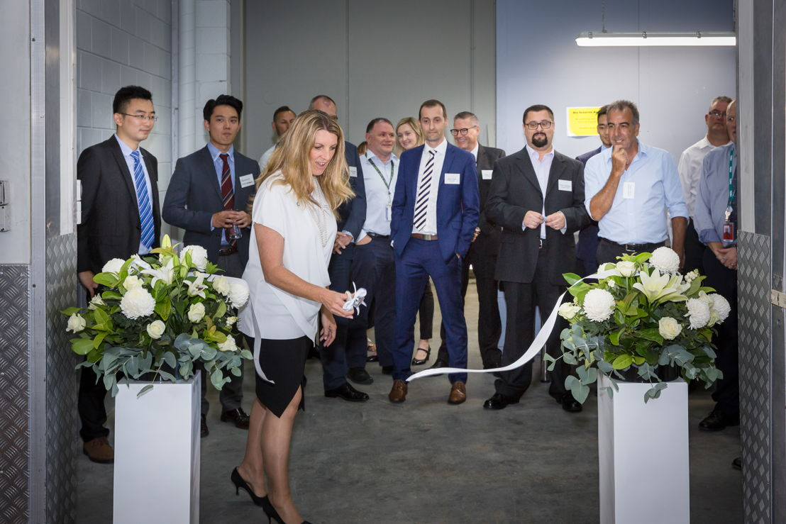 Daniela Marsilli, CEO, dnata Australia opens the new cargo facility in Adelaide