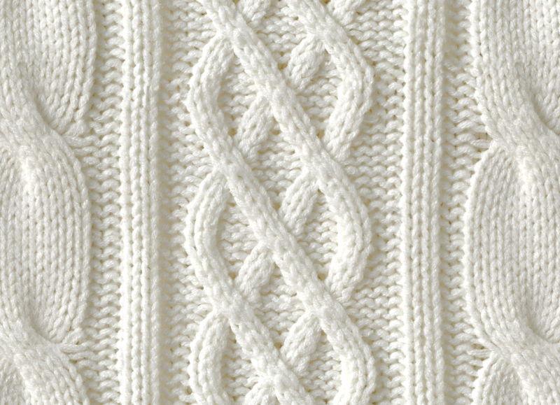 Cream Knit |   <br/>Knit Effect Vinyl Flooring