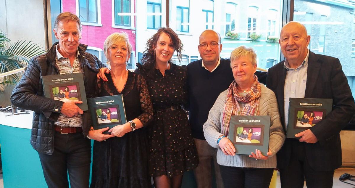 Sven en Anke met hun ouders  (Anny & André Ornelis en Ria & Kamiel Buckinx)