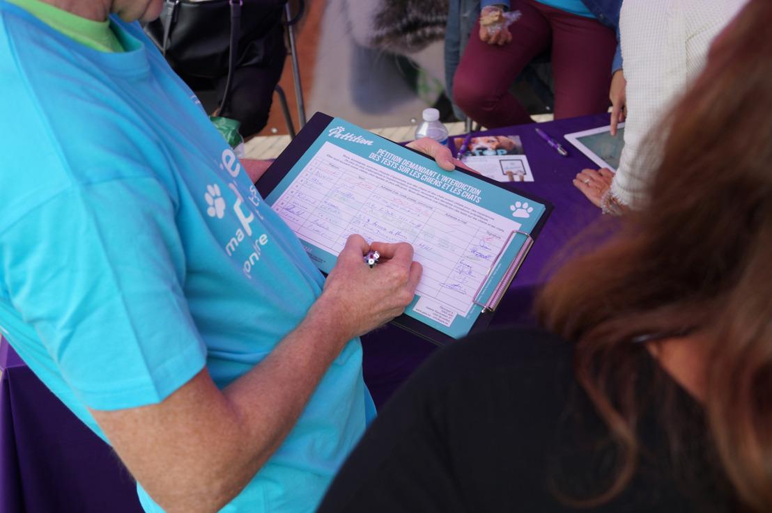 Sondage IPSOS : 96 % des Hainuyers veulent faire interdire les tests sur les chiens et les chats