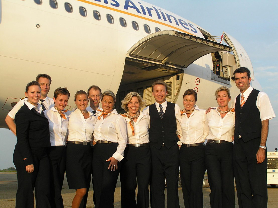 SN Brussels Airlines crew in 2002