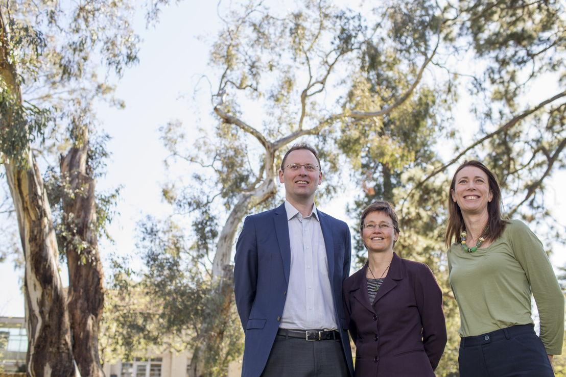 Dr Paul Burke, Professor Kylie Catchpole and Dr Emma Aisbett from the Australian National University