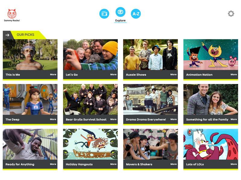 Explore new content - ABC ME App