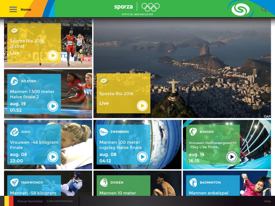 De Olympische App van Sporza
