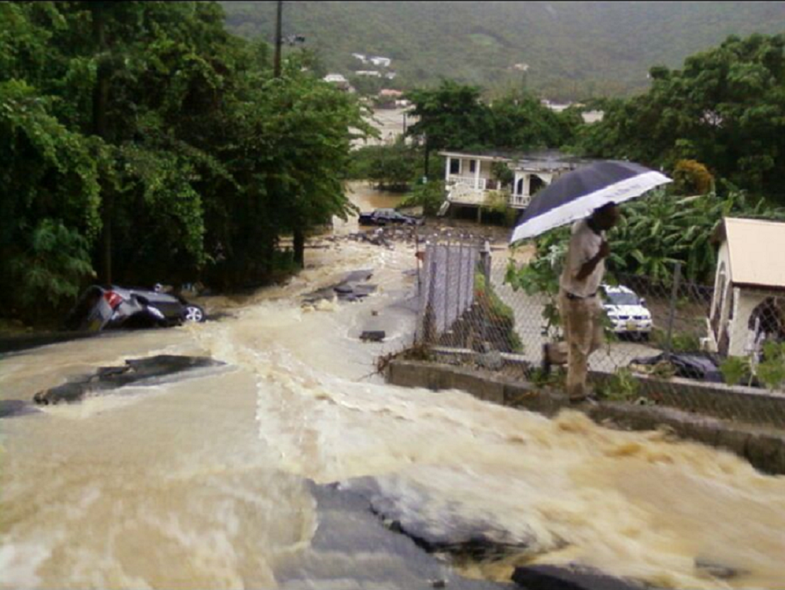 Virgin Islands: iLand Resilience Drainage Project Saves Vital Community Road In Flood