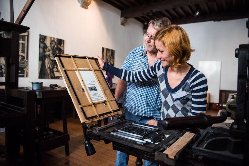 Printing workshop, photo: Noortje Palmers, Museum Plantin-Moretus