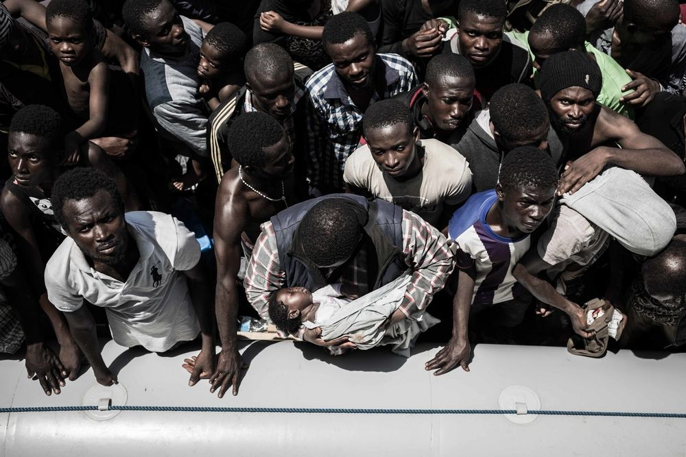 System identifier<br/>: MSF150650<br/>Title<br/>: Bourbon Argos rescues in the Mediterranean (July-August 2015)<br/>Photographer / cameraman<br/>: Christophe Stramba-Badiali<br/>Countries:<br/>Italy<br/>Description<br/>: Prior to embarkation on board the Bourbon Argos