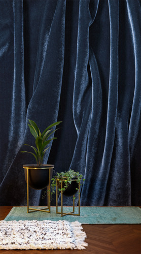 Velvet Murals: the go-to festive fabric becomes the hottest home trend.
