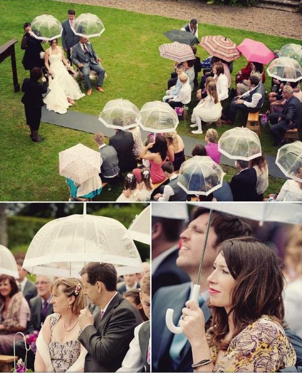 Bruiloft in de regen