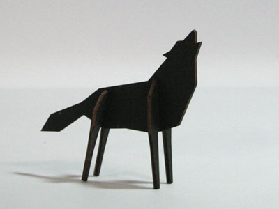 Atelier Pierre Nordic puzzel Wolf Medium Black €16