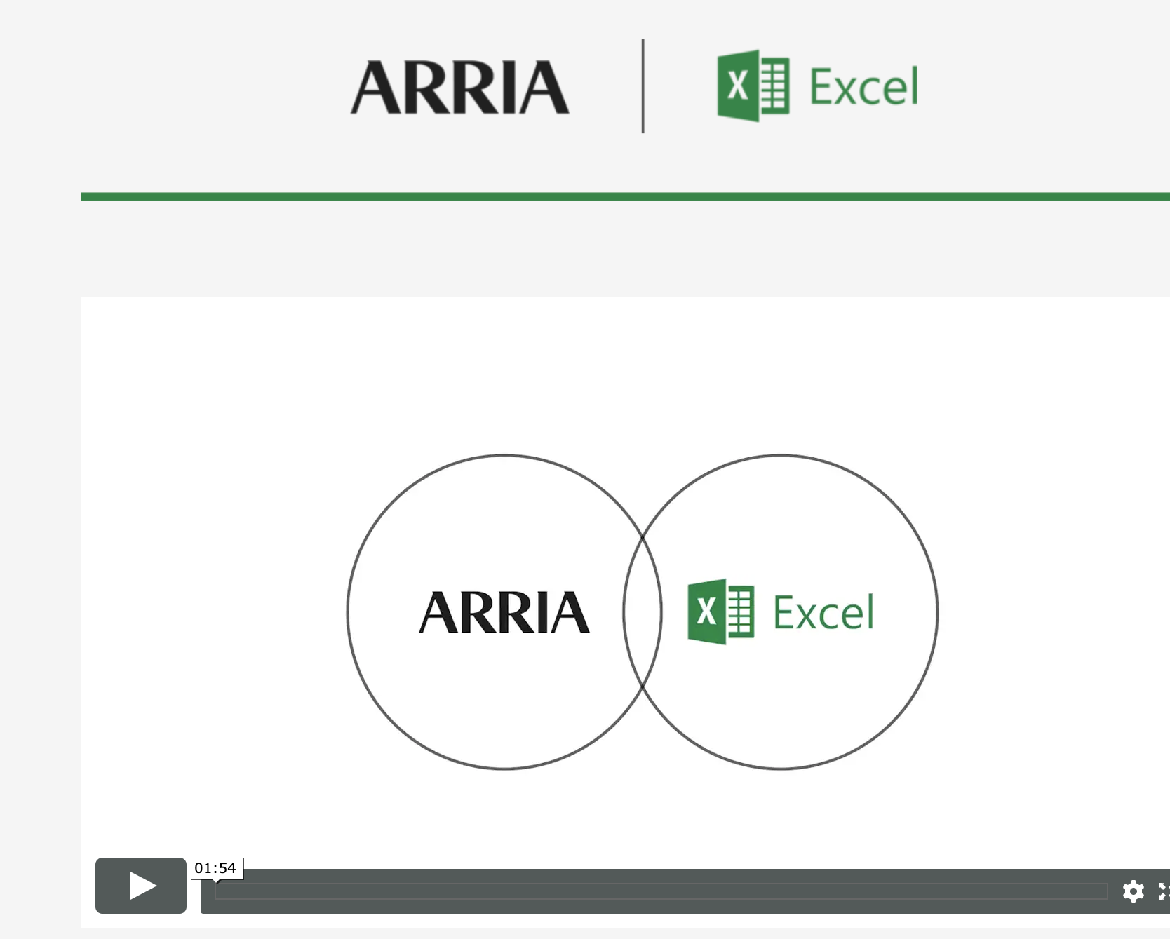 Arria NLG for Microsoft Excel
