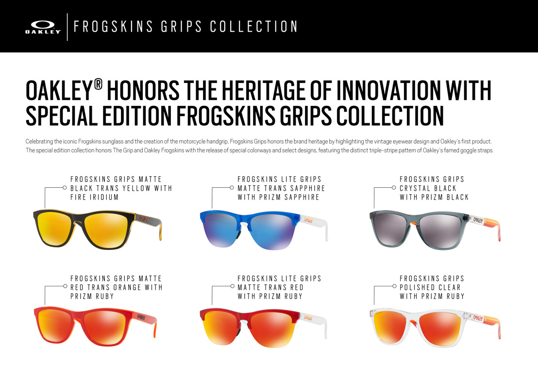 e8d24b6df7 ... official the special edition collection honors the grip and oakley  frogskins with the release of special